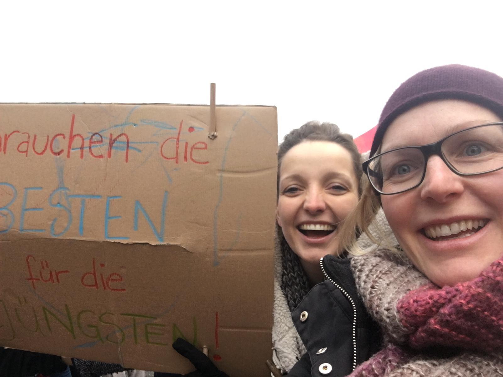 Solidarität beim GEW Streik zu den Tarifverhandlungen